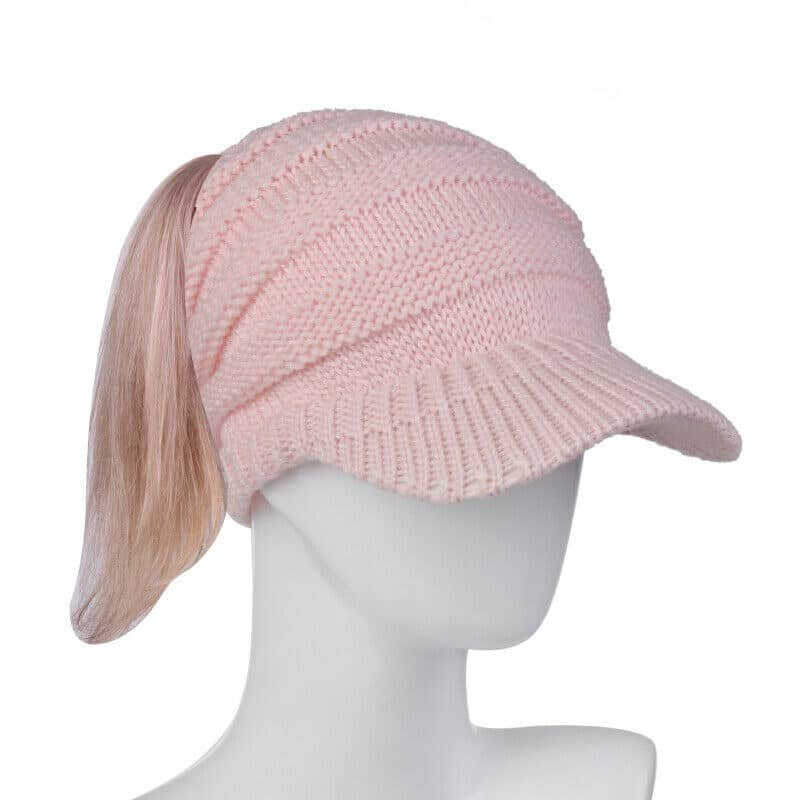 pink winter warmer hat